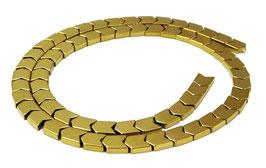 Hämatit Pfeil- / V-förmige Perlen goldfarben ca. 6x7,5 mm - Strang
