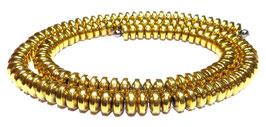 Hämatit goldfarbene Rondelle ca. 6x3 mm - Strang