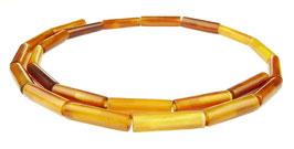 Goldenes Horn Röhrchen ca. 15-18x5 mm - Hornperlen Strang