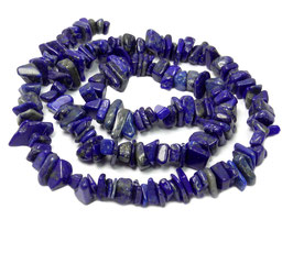 Lapislazuli Splitter-Nuggets ca. 8 - 10 mm - Strang