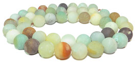 Amazonit multicolor Kugeln seidenmatt 10 mm - Strang