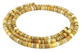 Goldlippen-Auster Heishi Perlen 5mm - XL-Strang