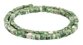 Baumachat (dunkler) Würfel ca. 4 mm - Perlen Strang