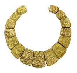Achat golden galvanisierte Trapez-Scheiben Perlen Set