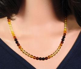 Bernstein Halskette multicolor Kugeln mit Farbverlauf