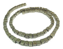 Pyrit 4 mm Würfel - Strang