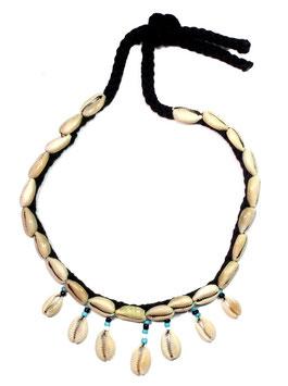 Echte Kaurischnecken Halskette - Maori Südsee Schmuck
