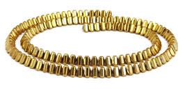 Hämatit gewölbte goldene Dreiecke ca. 4x3 mm - Strang