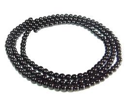 Onyx Saatperlen 3 mm Kugeln Edelstein-Perlen Strang