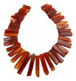 Karneol quaderförmige Scheiben-Nuggets gestaffelt Perlen Strang