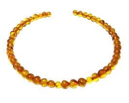 Bernstein Perlen honig-farbene runde Nuggets ca. 5-6 mm - Strang (25 cm)