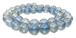 Bergkristall Kugeln matt blau-schwarz 10 mm - Strang