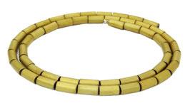 Hämatit matt goldene Walzen / Röhrchen ca. 8x4 mm Strang