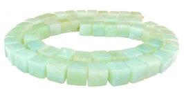 Amazonit mintfarbene Würfel ca. 6,5 mm Edelstein-Perlen Strang