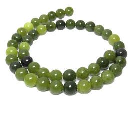 Grüne Jade Kugeln 8 mm - Strang