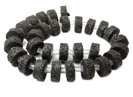 Lava Räder ca. 15x6mm - Strang