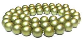 Muschelkernperlen Kugeln olivgrün matt 8 mm - Strang
