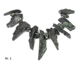 Tektit (bei Meteoriteneinschlag entstanden) Nugget Perlen Set  (Unikat wählbar)