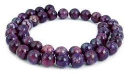 Jade Kugeln dunkel violett / lila 8 mm - Strang