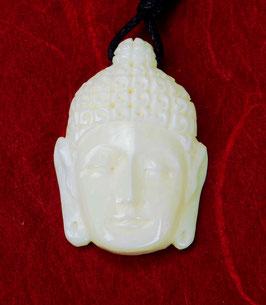 """Buddha Anhänger / Perle aus Wasserbüffelknochen """"Buddhakopf"""" ~Handarbeit~"""
