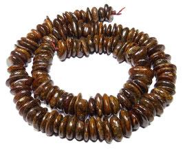Bronzit Lamellen ca. 8-12 x 2-4 mm - Strang