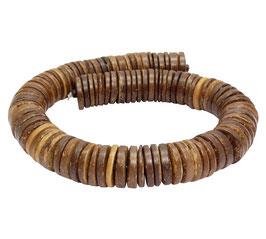 Kokosnuss natur braune Scheiben ca. 20 x 2-5 mm Heishi-Perlen - Strang