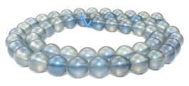 Bergkristall Kugeln matt blau-schwarz 8 mm - Strang
