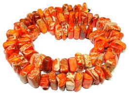 Impressionen Jaspis orange-rote Nuggets ca. 8-12 x 3-6 mm - Strang