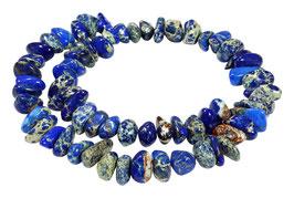 Impressionen Jaspis blaue Nuggets ca. 5-7x10-18 mm Edelsteinperlen Strang-