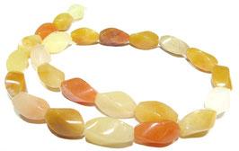 Gelbe Jade gedrehte Oliven ca. 16x8 mm - Strang