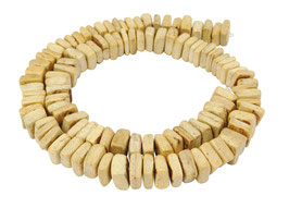 Kokosnuss Quadrat-Nuggets ca. 9x2-5 mm - Strang