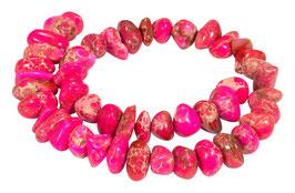 Impressionen Jaspis pink-rote Nuggets ca. 10-18x5-10 mm - Strang