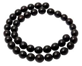 Schwarzes Horn Kugeln 10 mm Perlen Hornperlen Naturperlen Strang Mala Perlen