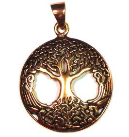 Keltischer Lebensbaum / Weltenbaum Bronze Anhänger - keltisches Amulett