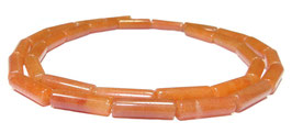 Roter Aventurin Röhrchen ca. 4x13 mm - Strang