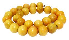 Jakobsfruchtbaumholz Kugeln 15 mm Holzperlen - Strang