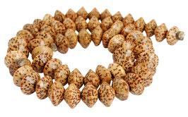 Kokospalmholz Rondelle ca. 10,5x6,5 mm - Strang