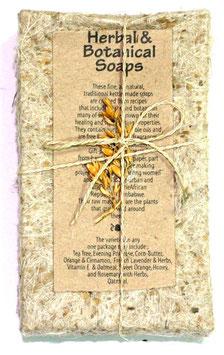 1 Stück Seife in Box aus handgeschöpftem Papier