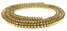 Hämatit goldfarbene Rondelle ca. 4x2 mm - Strang