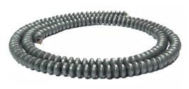 Hämatit  Rondelle / Räder mattiert ca. 4x2 mm - Strang