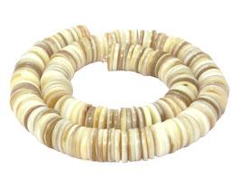 Süßwasserperlmuschel Heishi Perlen 13 mm - Strang