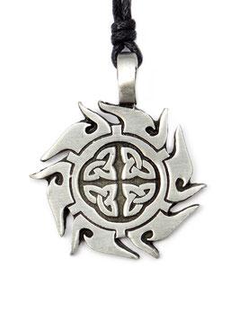 """""""Keltische Sonne"""" Zinn-Anhänger - keltisches Amulett"""