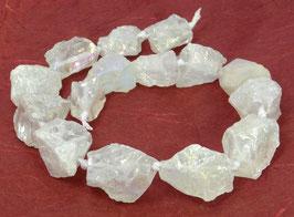 Bergkristall irisierende naturbelassene Nuggets ca. 20-30 mm - Strang