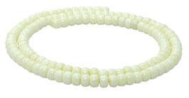 Knochen-Perlen Räder ca. 4 mm - Strang