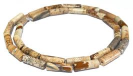 Landschaftsjaspis / Bilderjaspis 13x4 mm Röhrchen Jaspis Perlen