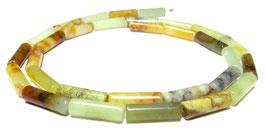 Xiu Jade Röhrchen / Walzen ca. 13x4 mm - Strang