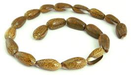 Zwiebel-Olivenschnecke Perlen  ca. 20 x 10 mm - Strang