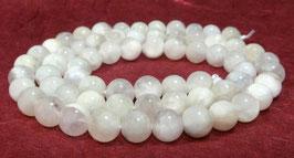 Weißer Regenbogen - Mondstein Kugeln 6 mm Edelsteinperlen Strang