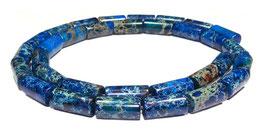 Impressionen Jaspis blaue Walzen ca. 12x6 mm - Strang