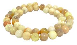 Gelber Sonnenstein Kugeln 8 mm - Perlen Strang